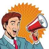 pop art businessman cartoon - 232124796