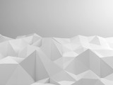 Abstract white interior with polygonal art - 232126153