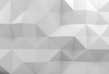 Abstract white 3d digital polygonal pattern - 232126171