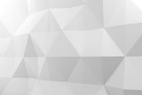 Abstract white polygonal pattern on wall - 232126176