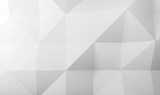 Abstract white digital low poly 3 d pattern - 232126183