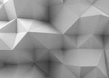 3d Abstract white digital polygonal pattern - 232126187