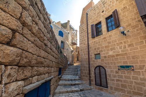 Streets of historial center in Jaffa, Israel