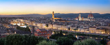 Florence, Italy. Aerial panorama of the city at dusk - 232137565