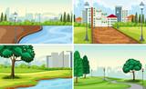 Set of park landscape - 232142940