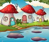 Enchanted mushroom house in nature - 232143331