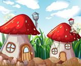 Enchanted mushroom house in nature - 232143957
