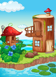Fairy tale house in nature - 232145982
