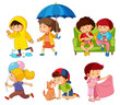 Set of children character - 232146502