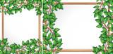 Wooden tree branch frame - 232146753