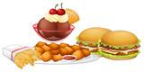 Set of junk food - 232146778