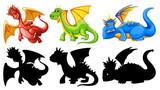 Set of dragon character - 232147772