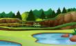 Beautiful green nature background