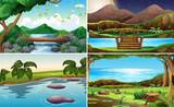 Set of nature landscape - 232148584