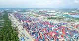 Aerial view of Container Terminal - 232149114