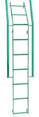 green iron ladder on white © AVD