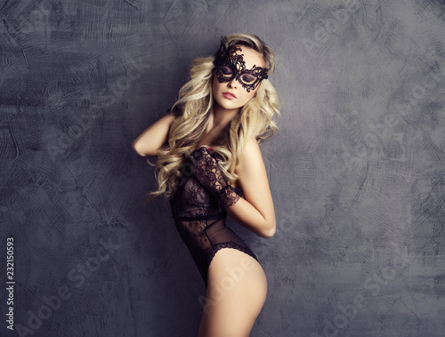 Sexy fashion model posing in beautiful lingerie. Sensual woman in underwear.
