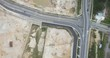 Aerial shot of a causeway