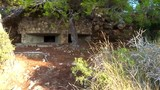 An old military bunker from the spanish civil war. Located near to the Mediterranean coast. SLOW MOTION - 232153715
