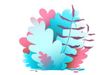 Floral Background Design Bush and Leaves Graphics - 232154765