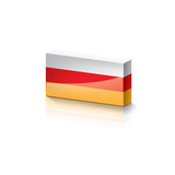 South Ossetia flag, vector illustration on a white background. - 232158957