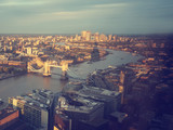 London aerial view with Tower Bridge, UK - 232160780