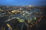 London aerial view with Tower Bridge, UK - 232160937