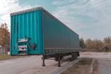 Truck trailer on parking lot - 232163502