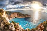 Navagio beach with shipwreck on Zakynthos island in Greece - 232166176