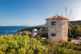 Old windmills on Skinari, Zakynthos island, Greece - 232166953