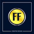 Initial Letter FF Logo Template Design Vector Illustration - 232172569