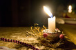 christmas candle on background