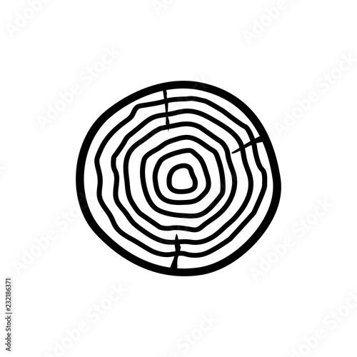 Wood icon , the logo on a white backgroun - 232186371