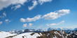 schöne Aussicht vom Nebelhorn im Frühjahr