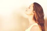 Young beautiful woman in white shirt outdoors - 232217365