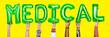 Leinwanddruck Bild - Hands showing medical balloons word