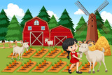 A girl at farmland - 232218152