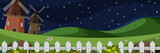 Farm larm landscape at night - 232220308