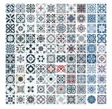 tiles Portuguese patterns antique seamless design in Vector illustration vintage - 232227307