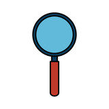 search magnifying glass icon - 232230760