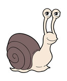 funny snail illustration