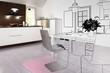 Contemporary kitchen renovation (plan)