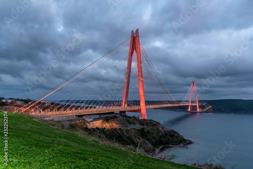 Yavuz Sultan Selim Bridge at blue hour