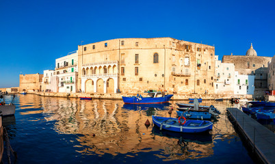Old port of Monopoli province of Bari, region of Apulia, southern Italy. Boats in the marina of Monopoli. © Vladimir Sazonov