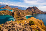 Landscape view from the top of Padar island in Komodo islands, Flores, Indonesia. - 232254161