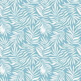 Seamless pattern with tropical leaves. Beautiful print with hand drawn exotic plants. Swimwear botanical design. Vector illustration. - 232255339