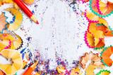 colored pencil shavings - 232259134