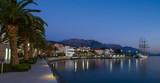 MONTENEGRO, TIVAT - DECEMBER 24. 2017:Tivat promenade night view in Montenegro - 232259385