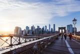 Skyline New York von der Brooklyn Bridge