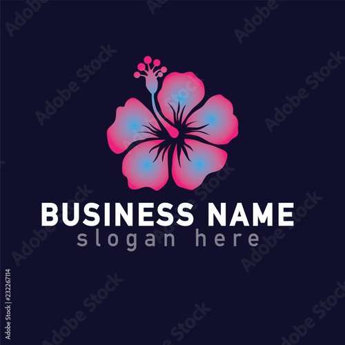 Hibiscus Flower Logo Icon Vector Template Buy Photos Ap Images